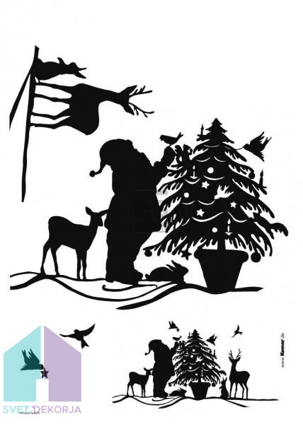 Dekorativna nalepka - Christmas
