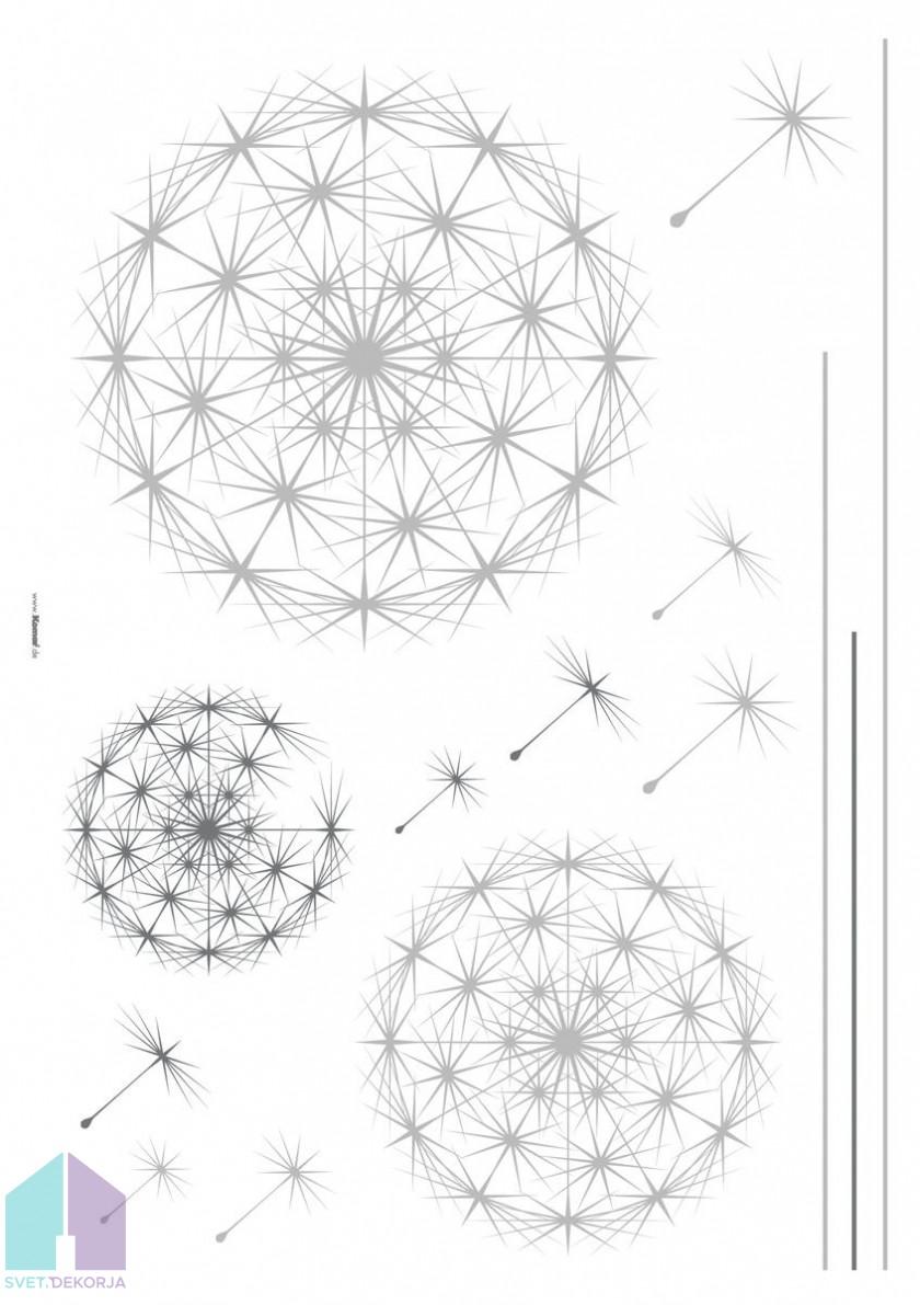 Dekorativna nalepka - Dandelion