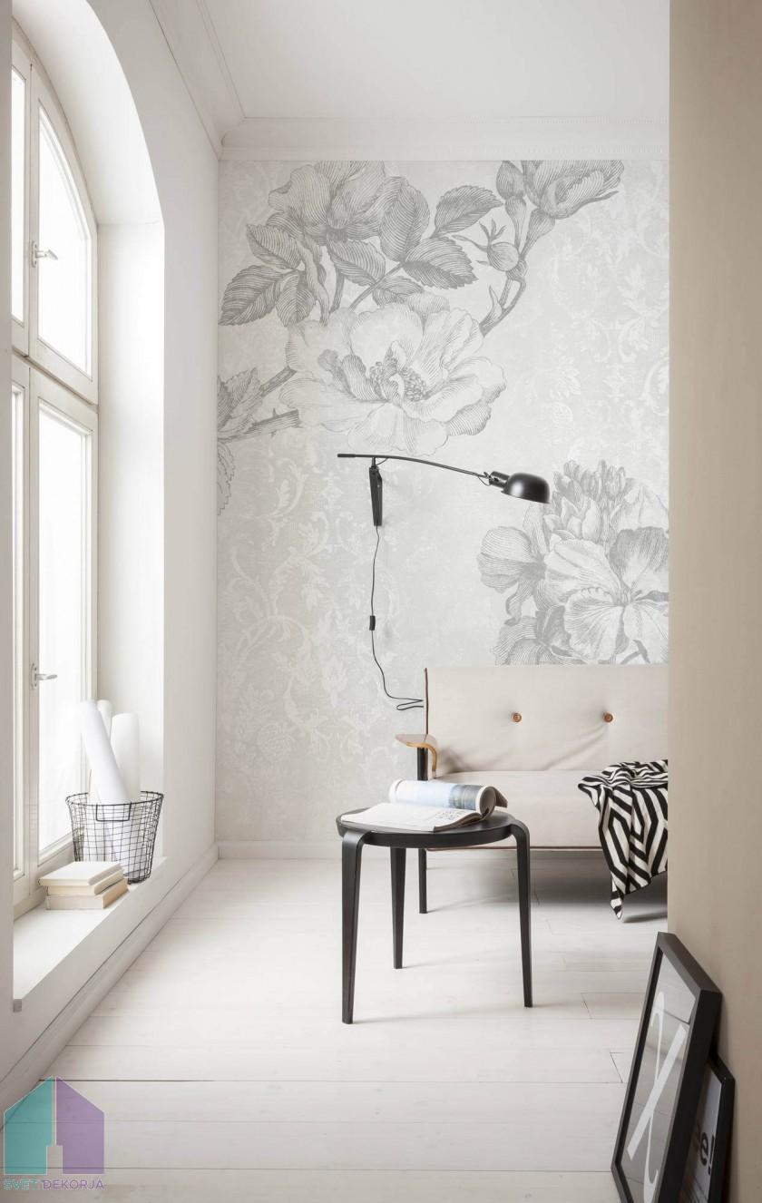 Fototapeta - Baroque Grey
