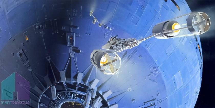 Fototapeta - Star Wars Classic RMQ Death Star Assault