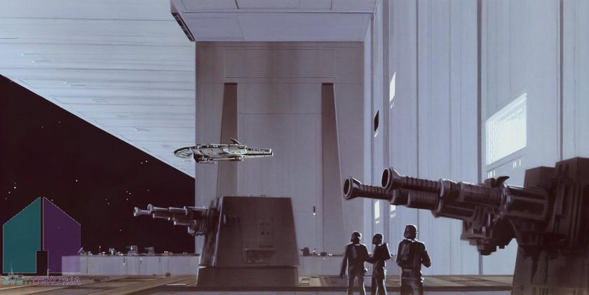 Fototapeta - Star Wars Classic RMQ Death Star Hangar