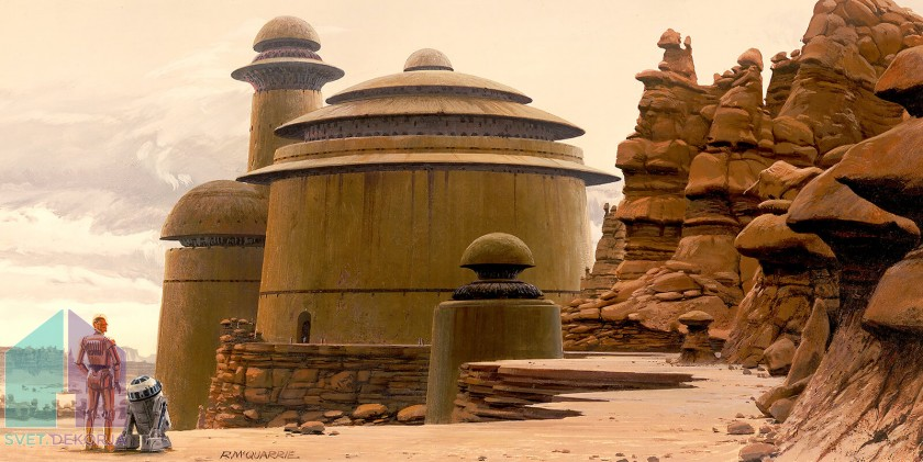 Fototapeta - Star Wars Classic RMQ Jabbas Palace