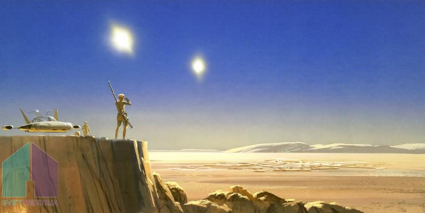 Fototapeta - Star Wars Classic RMQ Mos Eisley Edge