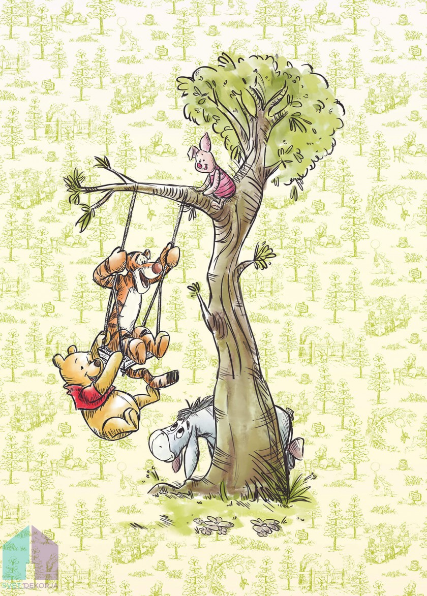 Fototapeta - Winnie Pooh in the wood