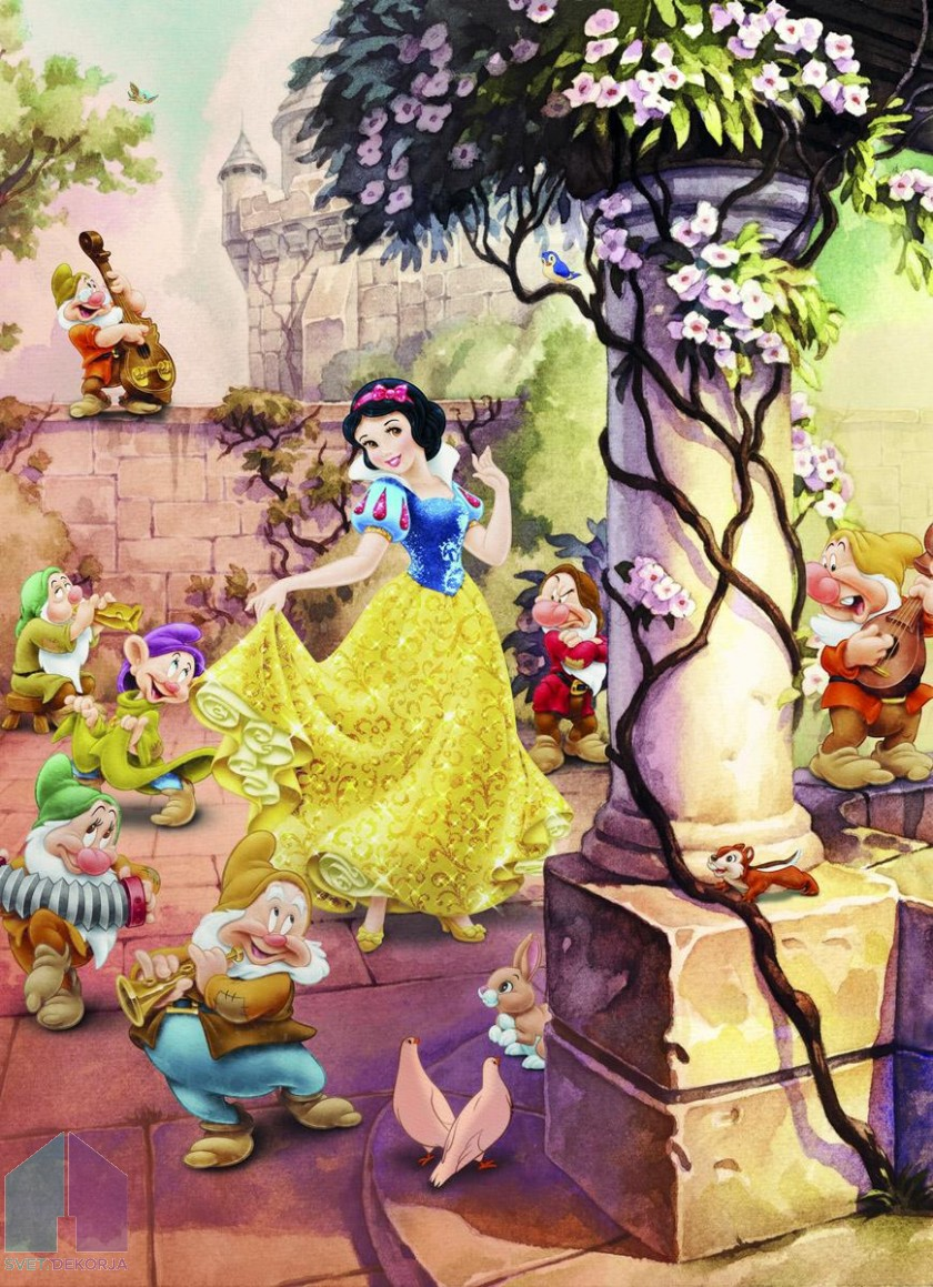 Fototapeta - Dancing Snow White