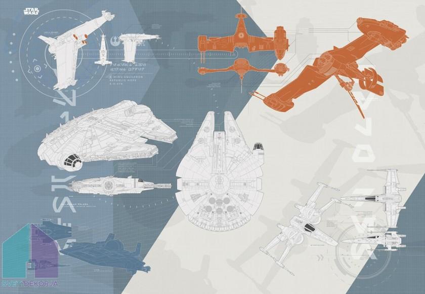 Fototapeta - STAR WARS Technical Plan