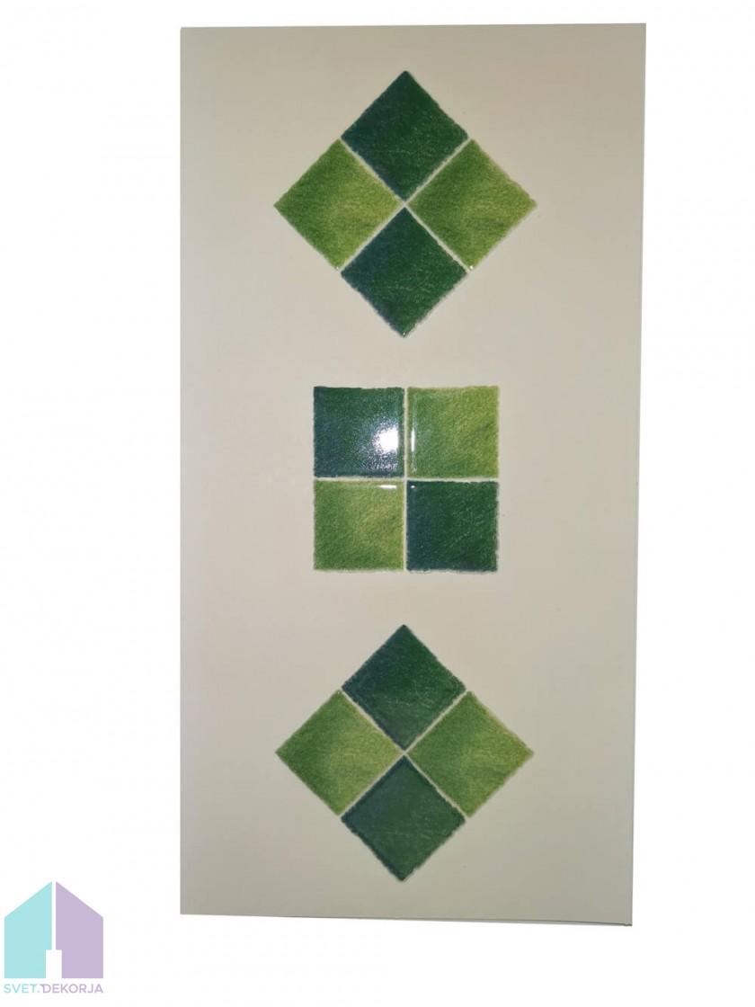 Decor style kopalniška dekoracija zelena -