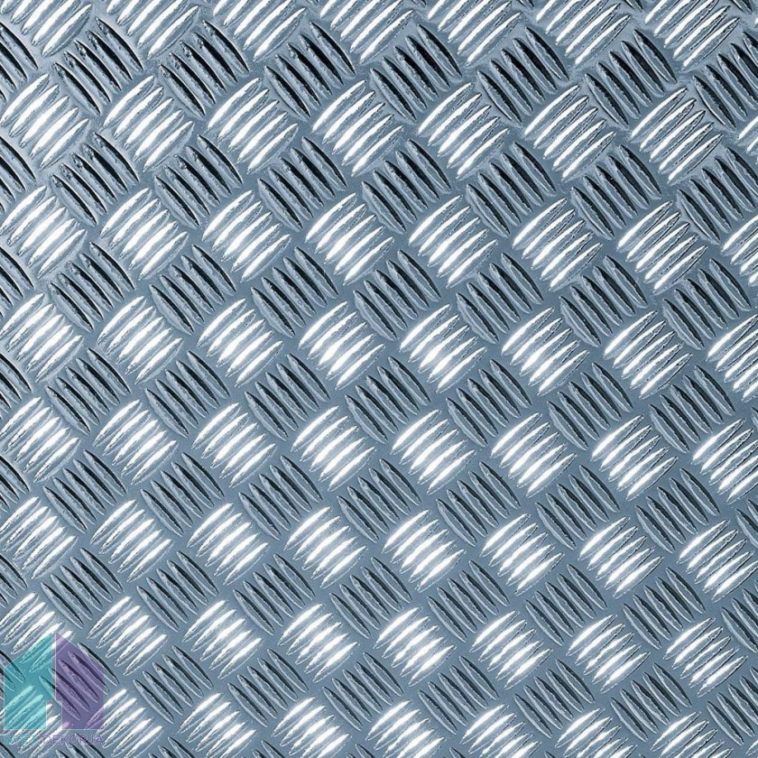 Samolepilna folija kos - Metalik rebrasta pločevina srebrna sijaj