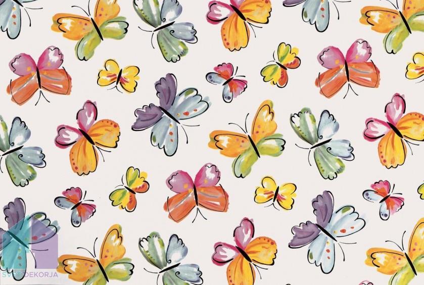 Samolepilna folija kos - Dekor metuljčki