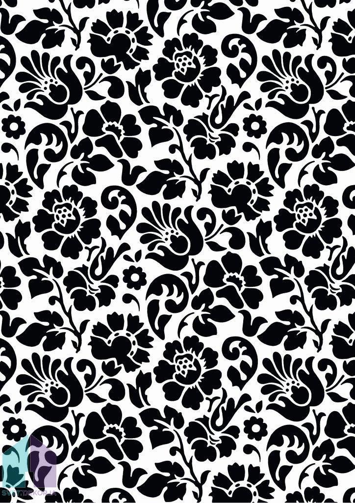 Samolepilna folija kos - Dekor Barock črna