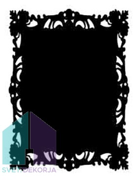 Samolepilna nalepka Spirit - črna okvir
