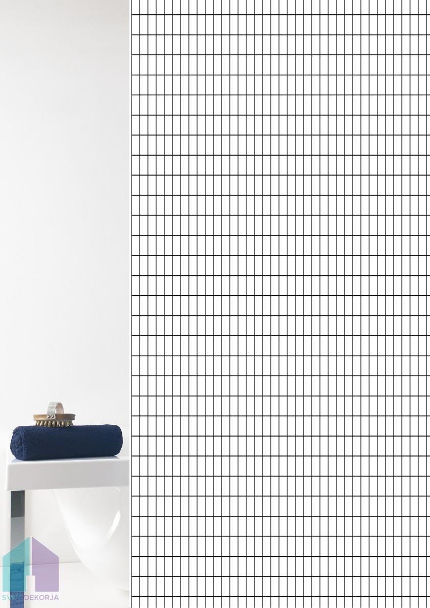 Kopalniška zavesa - Tekstil Grid črna