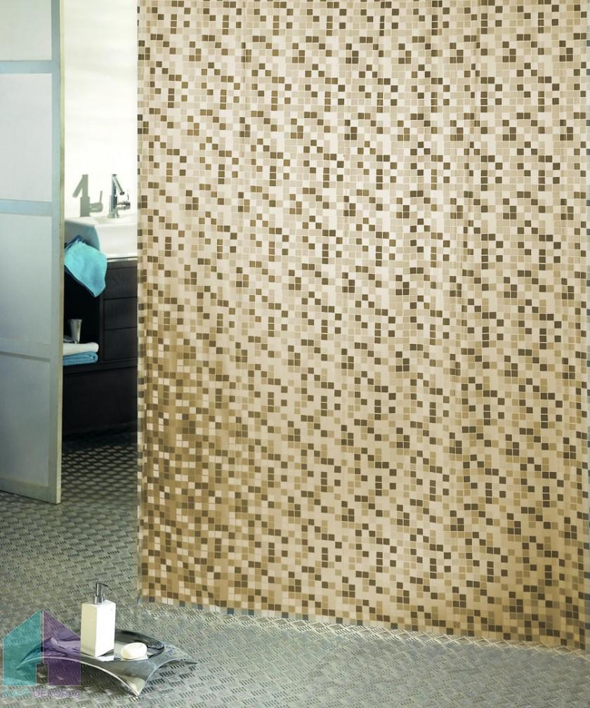 Kopalniška zavesa - Vinil Mosaico bež