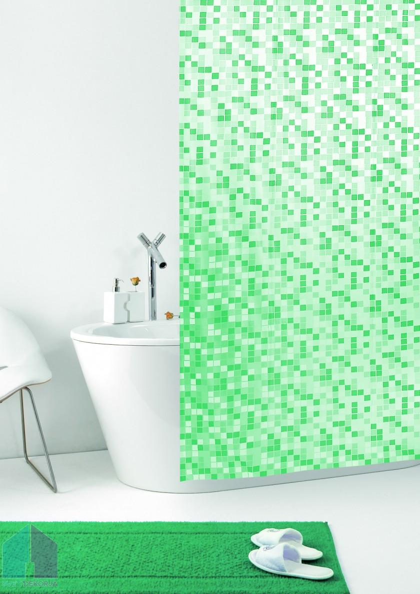Kopalniška zavesa - Vinil Mosaico zelena