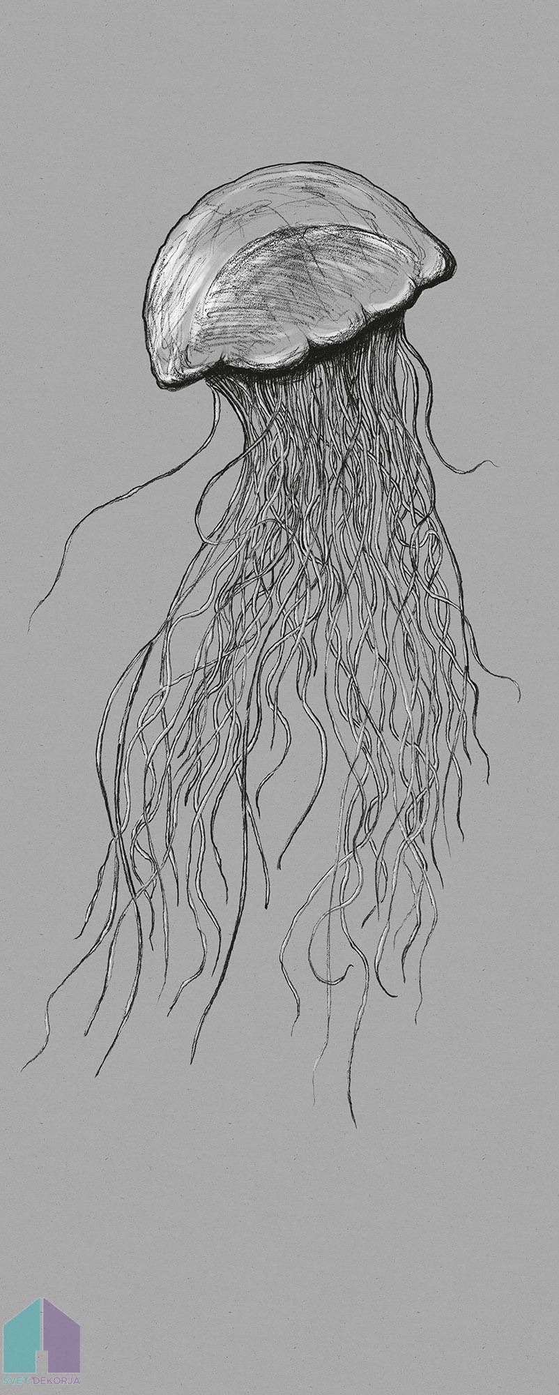 Fototapeta - Jellyfish Panel