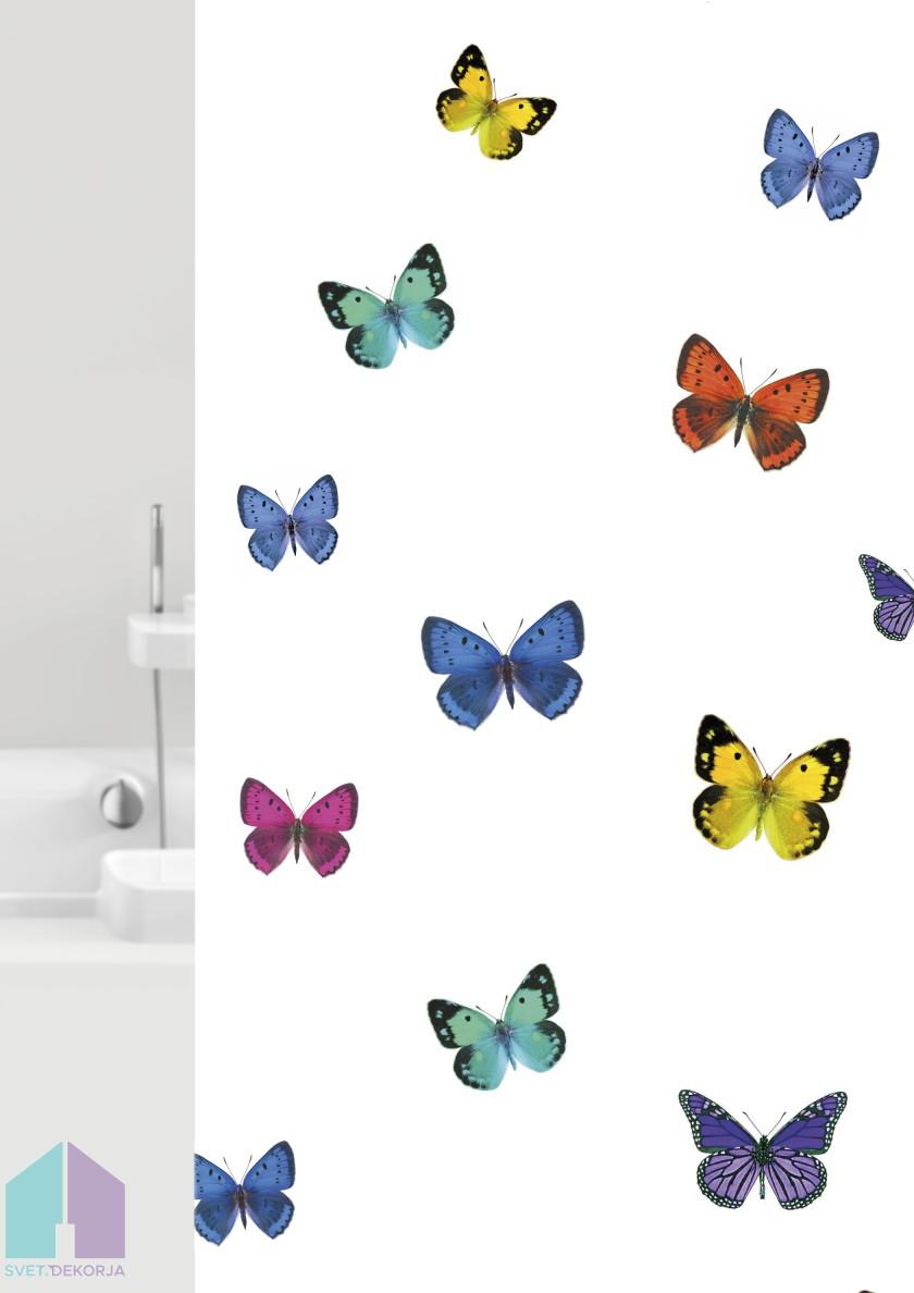 Kopalniška zavesa - Tekstil Papillons multi