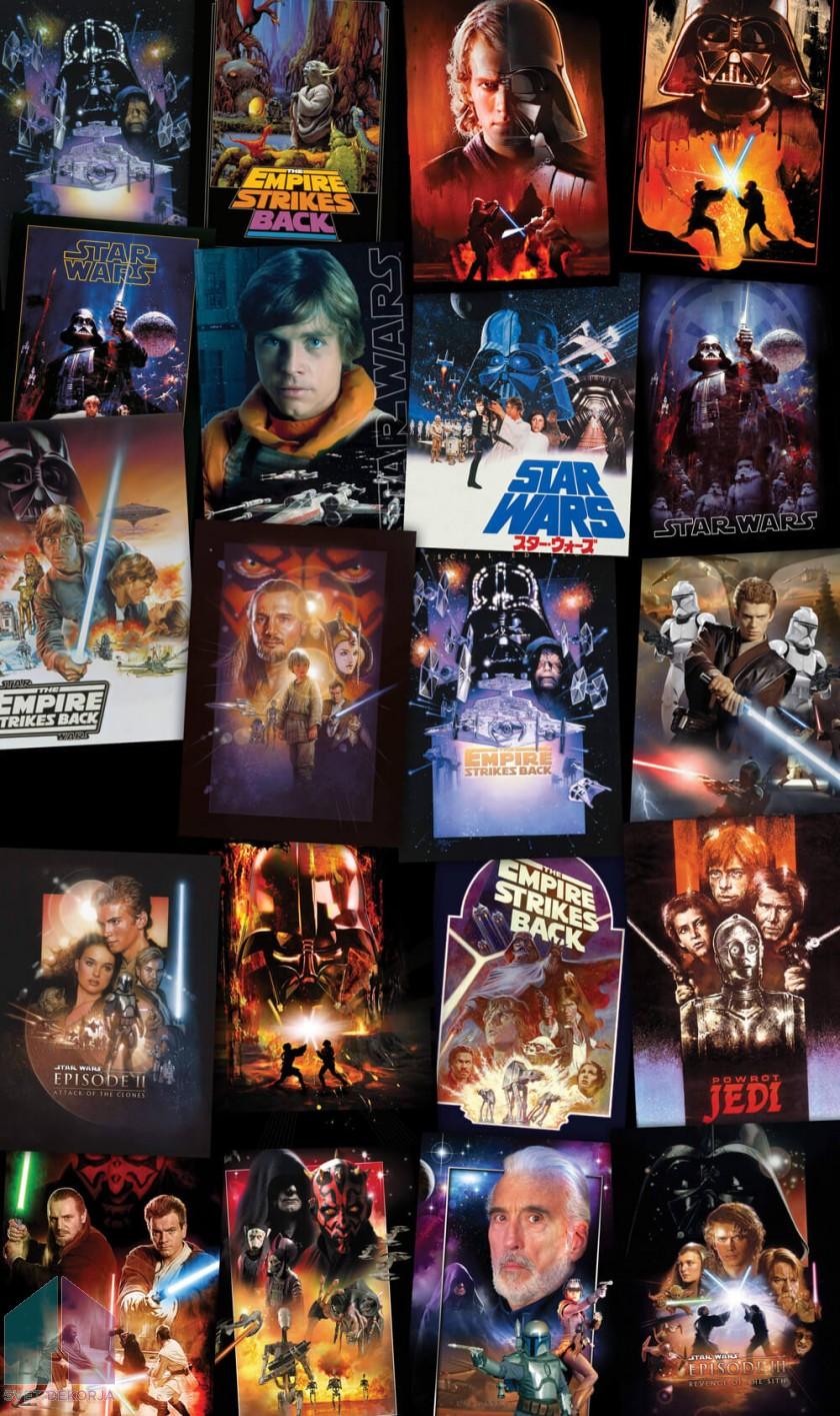 Fototapeta - Star Wars Posters Collage