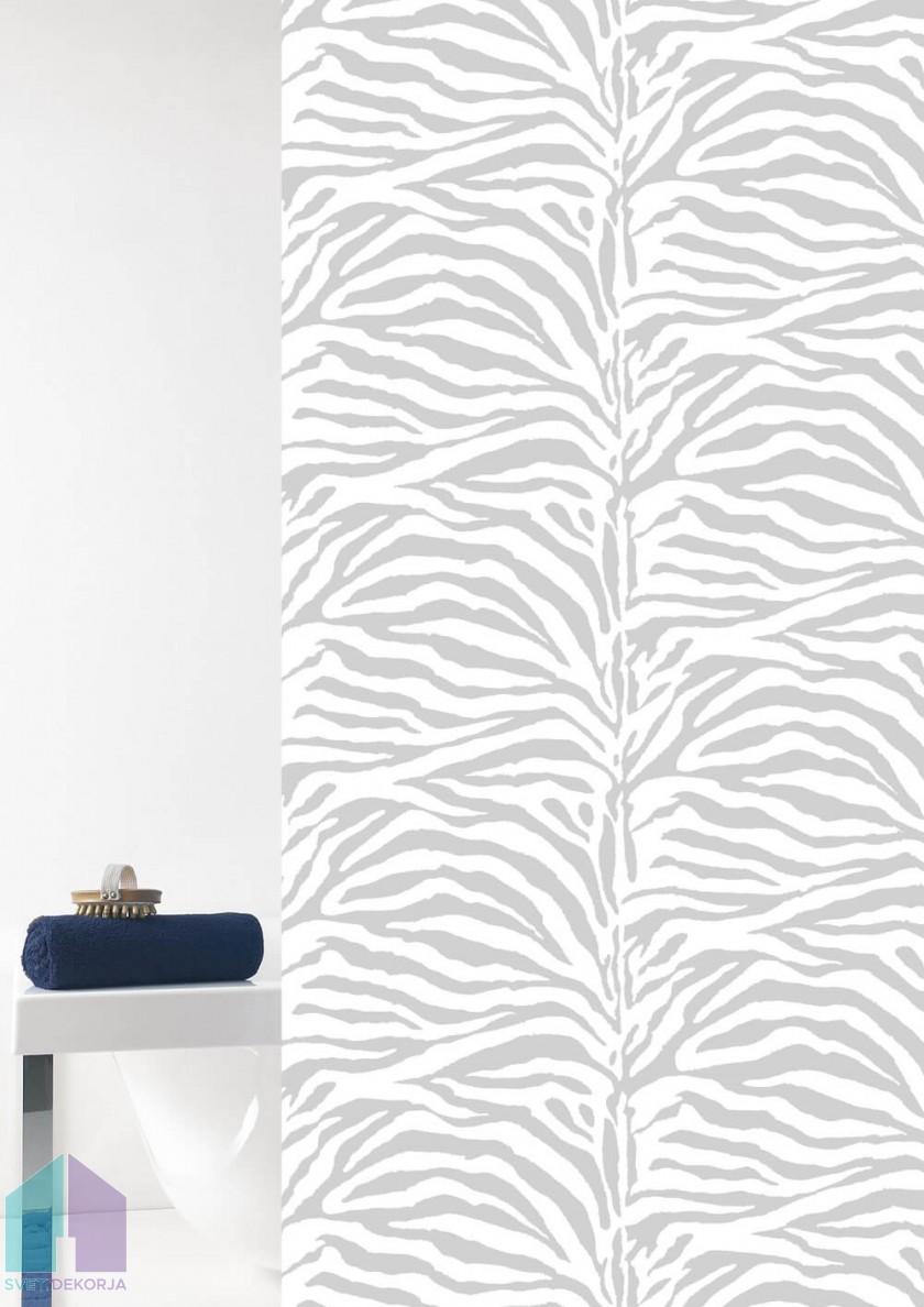 Kopalniška zavesa - Tekstil Zebra bela