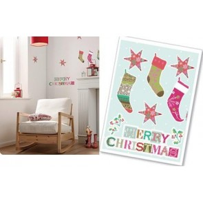 Dekorativna nalepka - Merry Christmas