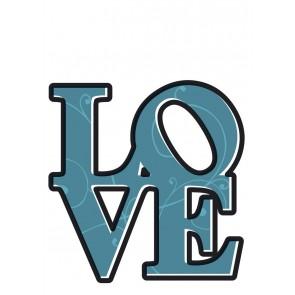 Dekorativna nalepka - Love