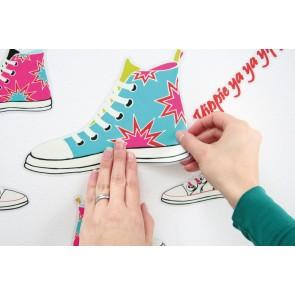 Dekorativna nalepka - Sneakers