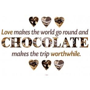 Dekorativna nalepka - Chocolate