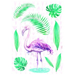 Dekorativna nalepka - Flamingo