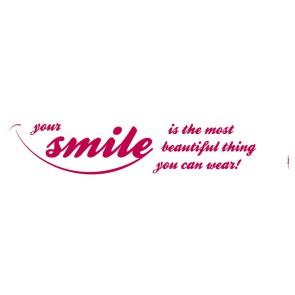 Dekorativna nalepka - Your smile