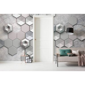 Fototapeta - Hexagon Concrete