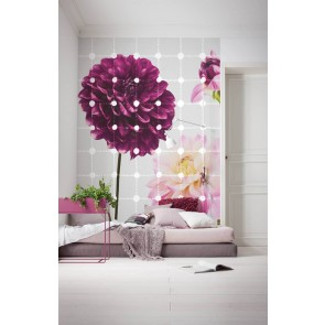 Fototapeta - Flowers & Dots