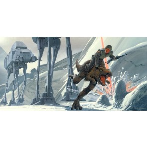 Fototapeta - Star Wars Classic RMQ Hoth Battle Ground