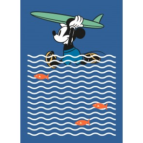 Fototapeta - Mickey gone Surfin'