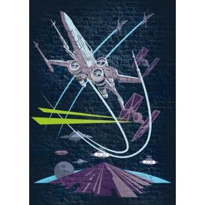 Fototapeta - Star Wars Classic Concrete X-Wing
