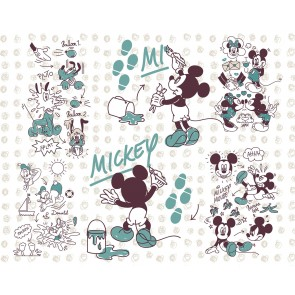 Fototapeta - Mickey and Friends