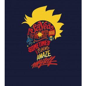 Foto tapeta - Captain Marvel saves the World