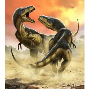 Foto tapeta - Albertosauruses Fight