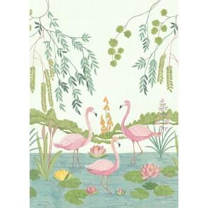 Foto tapeta - Flamingo Vibes