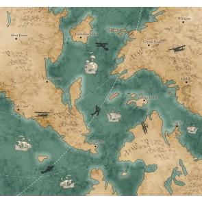 Foto tapeta - Old Travel Map