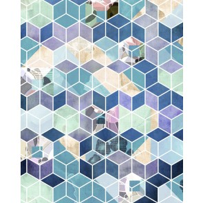 Fototapeta - Geometric Blue