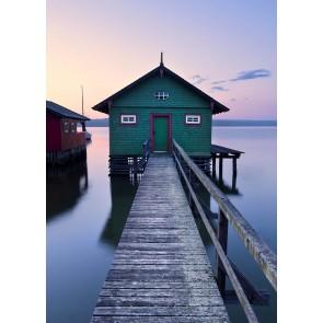 Fototapeta - Zelena čolnarna