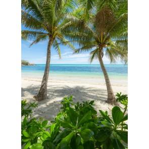 Fototapeta - Palmy Beach