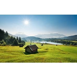 Fototapeta - Gorski travnik v parku Karwendel