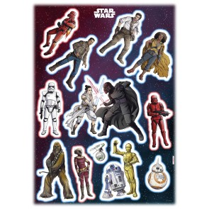 Dekorativna nalepka - Star Wars Heroes Villains