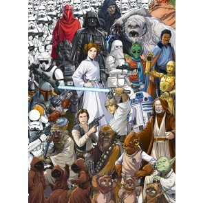 Fototapeta - STAR WARS Classic CartoonCollage