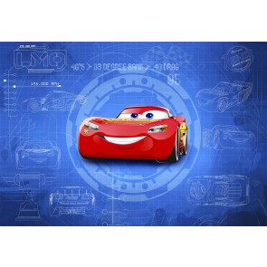 Fototapeta - Cars3 Blueprint