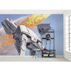 Fototapeta - Star Wars Classic RMQ Hoth Battle AT-AT