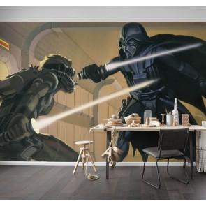 Fototapeta - Star Wars Classic RMQ Vader vs Luke