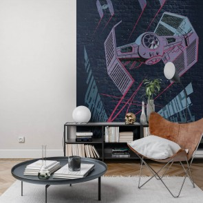 Fototapeta - Star Wars Classic Concrete TIE-Fighter