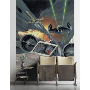 Fototapeta - Star Wars Classic Death Star Trench Run