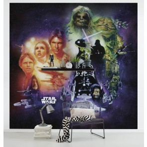 Fototapeta - Star Wars Classic Poster Collage